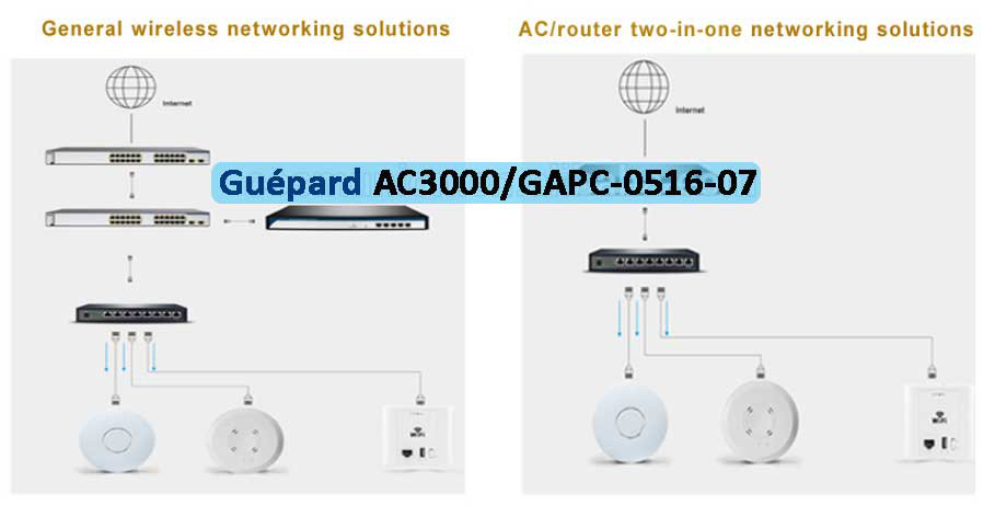 Giải pháp hai trong một (AC/router two-in-one networking solutions): Guepard Networks Solutions